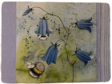 Bee & Harebell Corked Backed Placemat